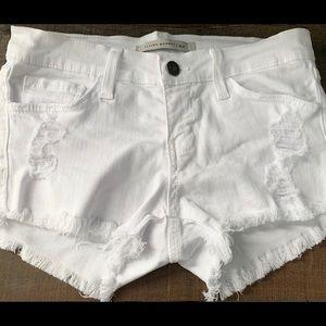 Flying Monkey White Denim Shorts